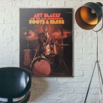 Art Blakey's Roots & Herbs Album Cover from 1966 Wooden Poster