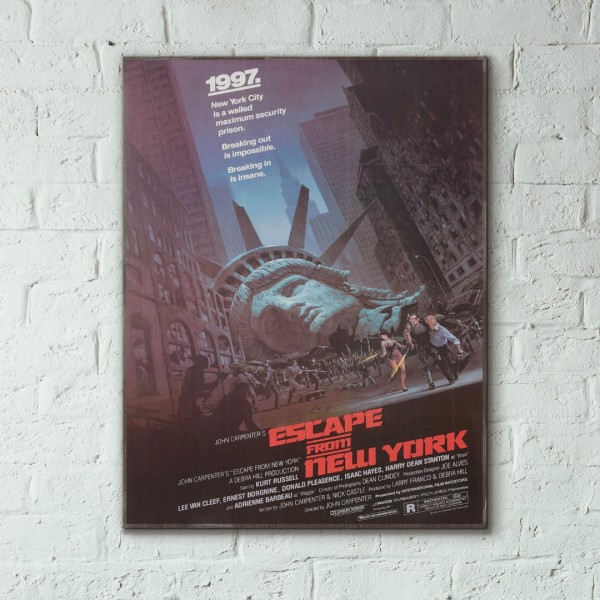 John Carpenter's Escape from New York 1981 Wooden Poster