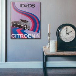 Citroen ID&DS Vintage Motorcycle Ad from 1957 Wooden Poster