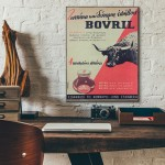 Bovril Greek Vintage Ad from 1962 Wood Sign