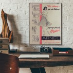 Arnel Skirts Greek Vintage Ad from 1962 Wood Sign
