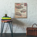 Fiat 500 Greek Vintage Ad from 1962 Wood Sign