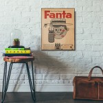 Fanta Vintage Ad from 1959 Wood Sign