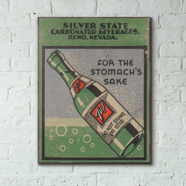 7up vintage ad from 1936 wood sign