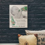 7up Vintage Ad from 1955 Wood Sign