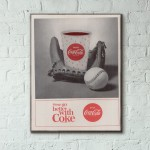 Coca-Cola Vintage Ad from 1966 Wood Sign