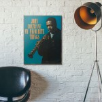 John Coltrane's My Favourite Things Album Cover from 1961 Wooden Poster