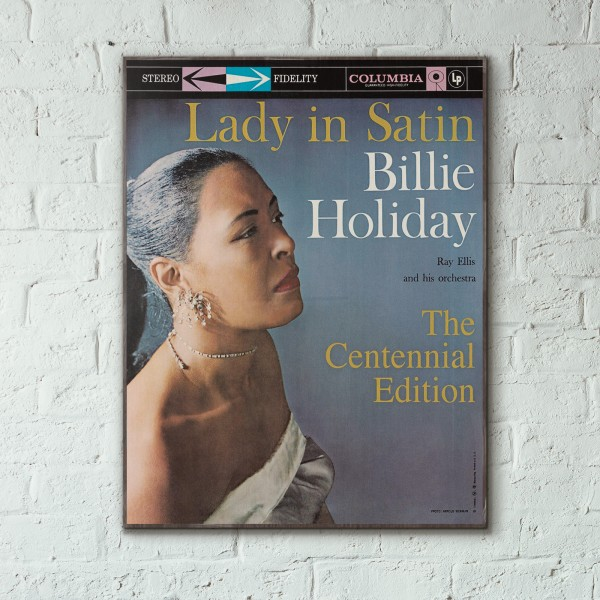Billie Holiday's Lady in Satin Album Cover from 1958 Wooden Poster