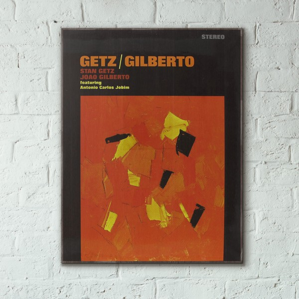 Stan Getz and João Gilberto's Getz/Gilberto Album Cover from 1964 Wooden Poster