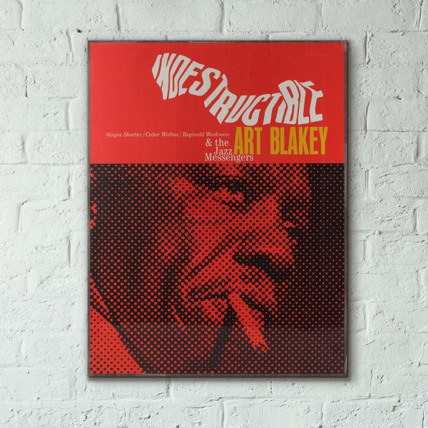 Art Blakey's Indestructible Album Cover from 1966 Wooden Poster