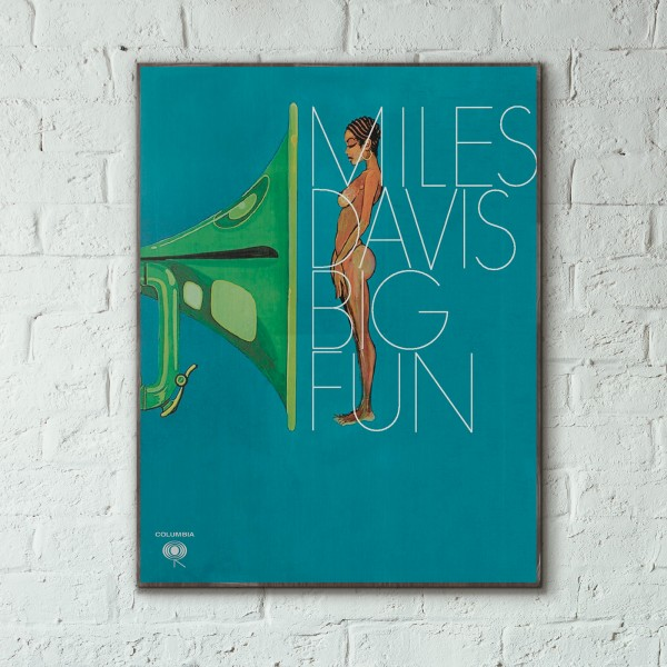 Miles Davis' Big Fun Album Cover from 1974 Wooden Poster