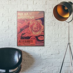 Sun Ra's Jazz in Silhouette Album Cover from 1959 Wooden Poster
