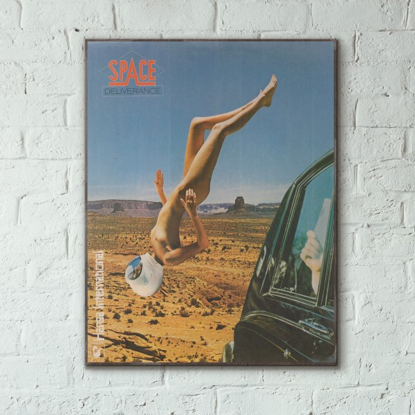 Space's Deliverance Album Cover from 1977 Wooden Poster