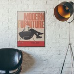 Modern Furniture by Mario Dal Fabbro Cover 1955 Wooden Poster