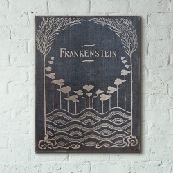 Frankenstein by  Mary Shelley Book Cover 1818 Wooden Poster
