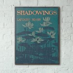 Shadowings by Lafcadio Hearn Book Cover 1900 Wooden Poster