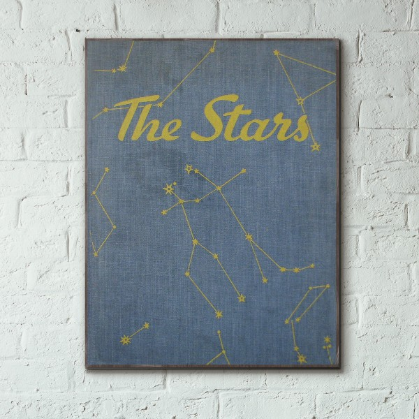 The Stars by H.A. Ray Book Cover 1952 Wooden Poster