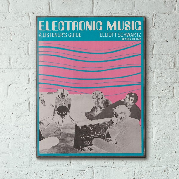 Electronic Music: a Listener's Guide Book Cover 1973 Wooden Poster