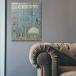 The How and Why Wonder Book of Chemistry Cover 1960 Wooden Poster