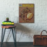 The How and Why Wonder Book of Reptiles Cover 1962 Wooden Poster