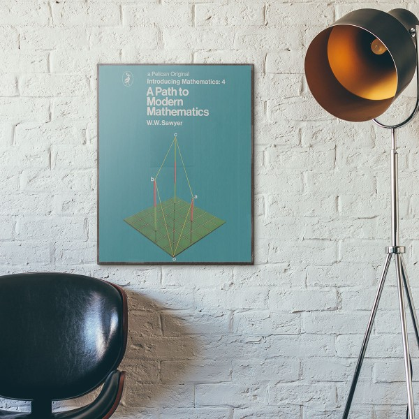 Pelican Book Covers - A Path to Modern Mathematics 1966 Wooden Poster