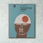 Pelican Book Covers - The Psychology of Study 1968 Wooden Poster