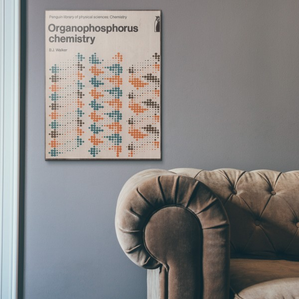 Pelican Book Covers - Organophosphorus Chemistry 1972 Wooden Poster
