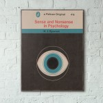 Pelican Book Covers - Sense and Nonsense in Psychology 1966 Wooden Poster