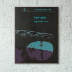 Pelican Book Covers - Leonardo by Sigmund Freud 1963 Wooden Poster