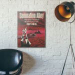 Damnation Alley Science Fiction Book Cover 1967 Wooden Poster