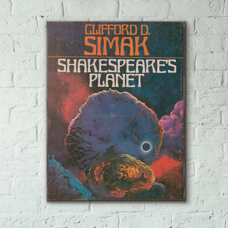 Fantasy Book Cover Posters ~ Clifford d simak s shakespeare planet science fiction
