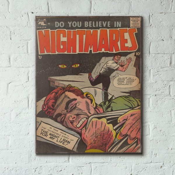 Do You Believe in Nightmares #2 1958 Wood Sign