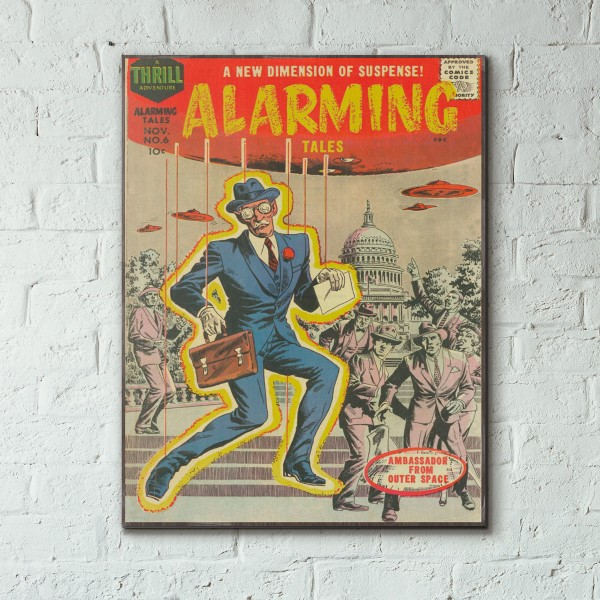 Harvey Comics Alarming Tales #6 1958 Wood Sign