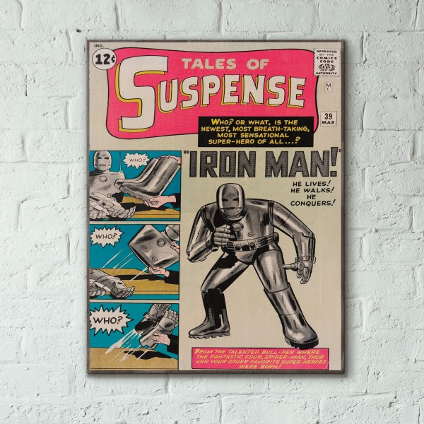 Marvel's Tales of Suspense #39 1962 Iron Man Jack Kirby Wooden Poster