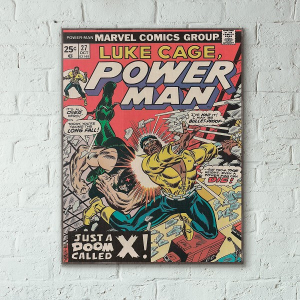 Marvel's Luke Cage Power Man #27 1975 Wooden Poster