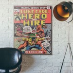 Marvel's Luke Cage Hero for Hire #14 1972 Wooden Poster