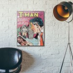 T-Man Issue #6 1951 Wood Sign