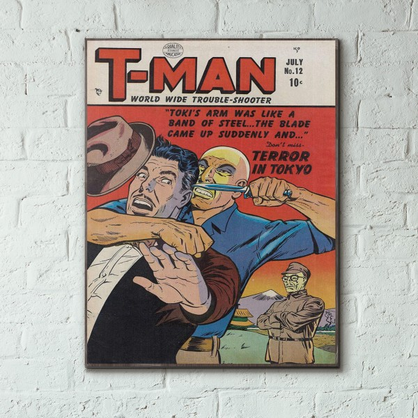 T-Man Issue #12 1951 Wood Sign