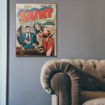 The Saint Comic Issue #2 1947 Wood Sign