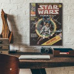 Marvel's Star Wars Comic Book Issue #1 1977 Wooden Poster