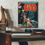 Marvel's Star Wars Comic Book Special Edition 1977 Wooden Poster