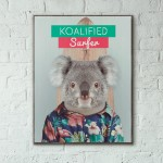 Koalified Surfer Custom Wooden Poster