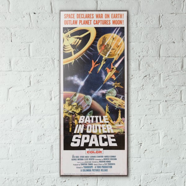 Battle in Outer Space 1959 Double Wooden Poster