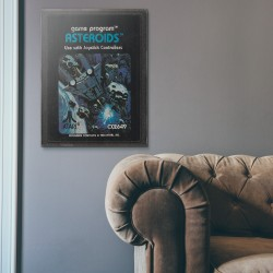 Atari 2600 Game Catridge - Asteroids from 1981 Wooden Poster