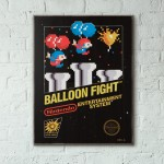 Nintendo NES Game Catridge - Balloon Fight from 1986 Wooden Poster