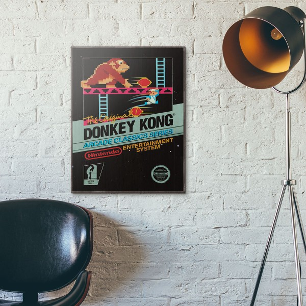 Nintendo NES Game Catridge - Donkey Kong from 1983 Wooden Poster