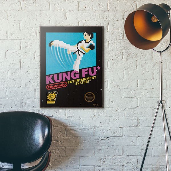 Nintendo NES Game Catridge - Kung-Fu Master from 1984 Wooden Poster