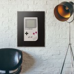 Nintendo Game Boy Original Black Wooden Poster