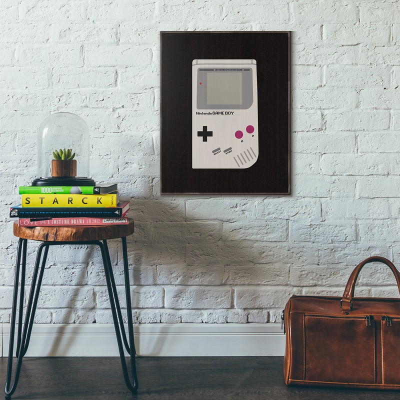 ee16f95c71 Nintendo Game Boy Original Black Wooden Poster