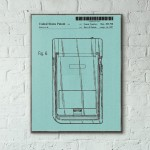 Nintendo Game Boy 1997 Patent Triple Wooden Poster